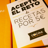 Recetas por Cinco Euros, Acepto El Reto Canal Cocina
