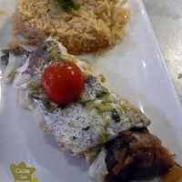 Merluza rellena con arroz Pilaf