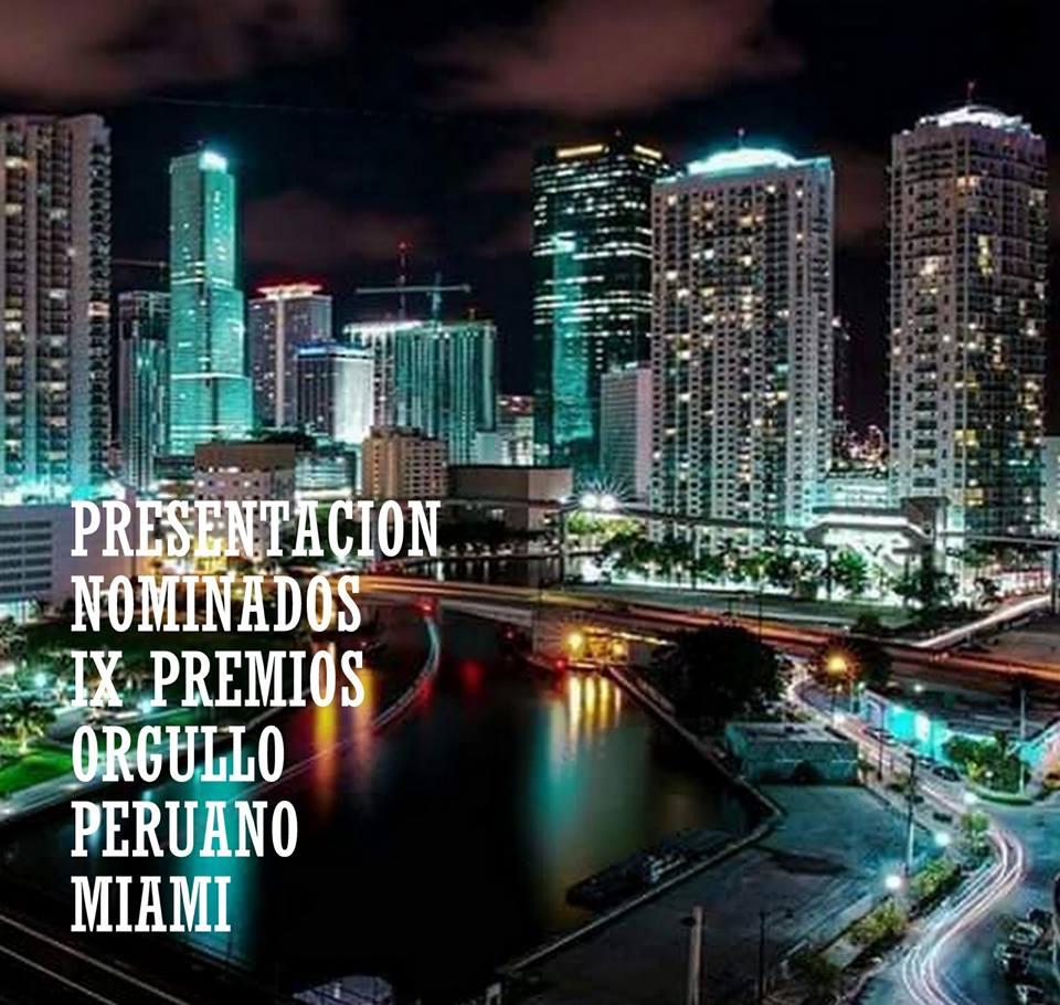 Premio ORgullo Peruano en Miami