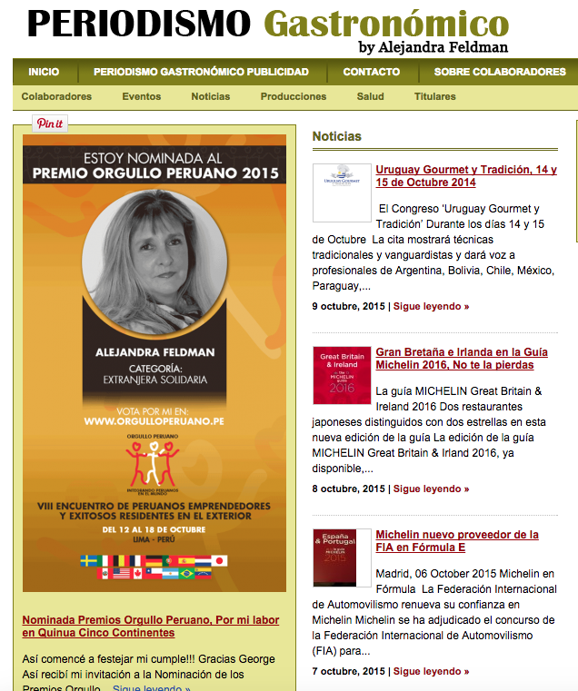 Premio Orgullo Peruano 2015