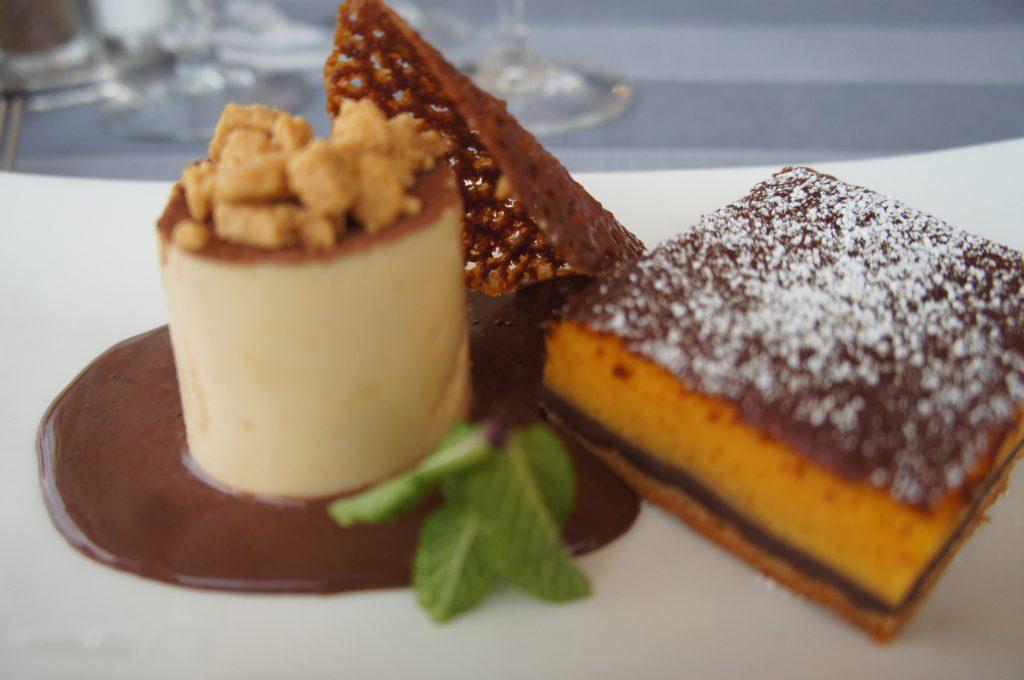 Tarta de calabaza con chocolate